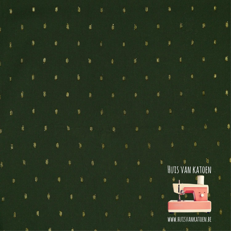 Viscose lurex - donkergroen