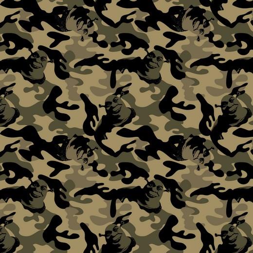 Shrek camouflage groen