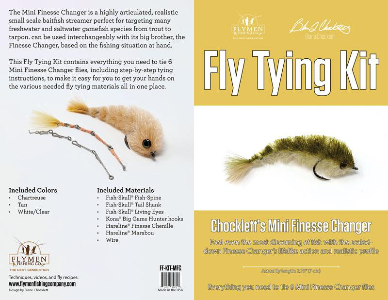 Chockletts mini finesse changer fly tying kit